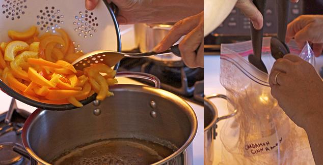 spicing orange rinds