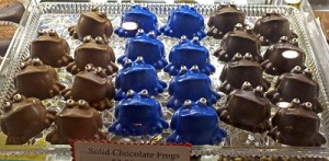 blue frog chocolate frogs