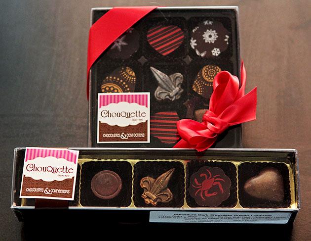 Chouquette dark chocolate caramels