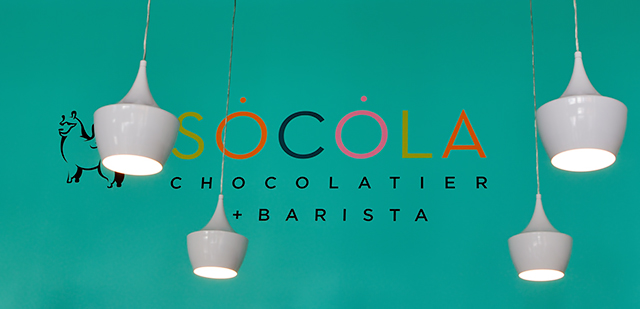 Socola logo and lamps