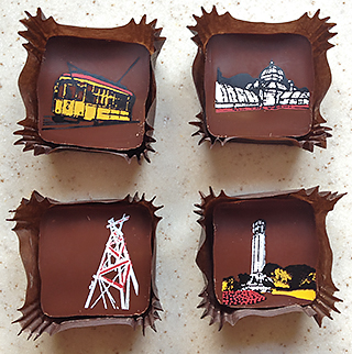 SF landmark chocolates