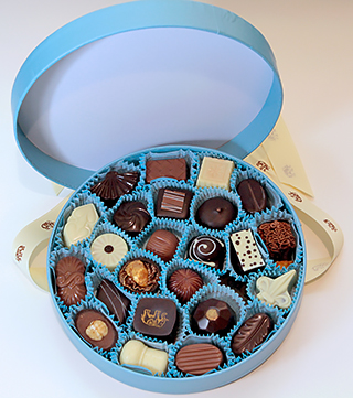 The full set of Woodhouse Chocolates.
