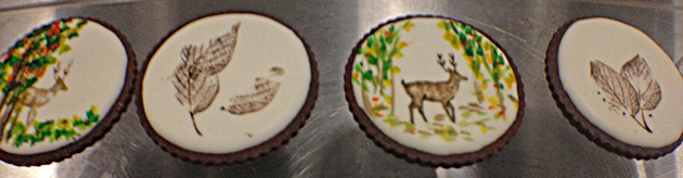 Pretty, hand-decorated sugar cookies are always available at Sixth Course.