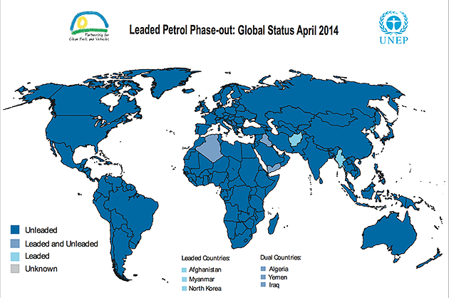 Leaded Gas Map