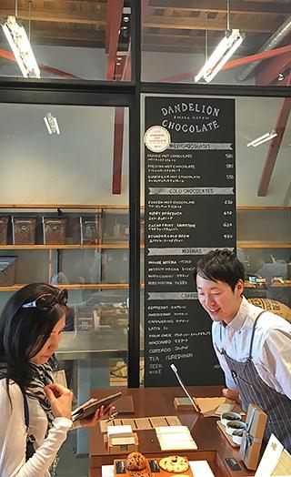 Dandelion Chocolate counter