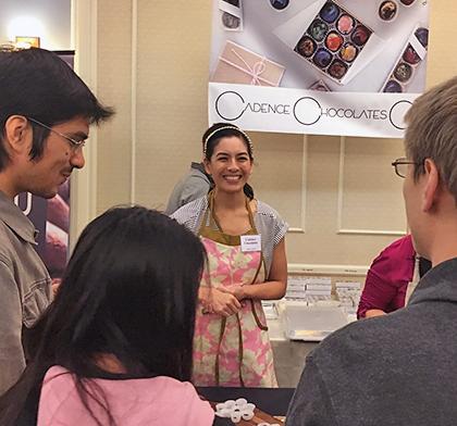 Melissa Santos of Cadence Chocolates