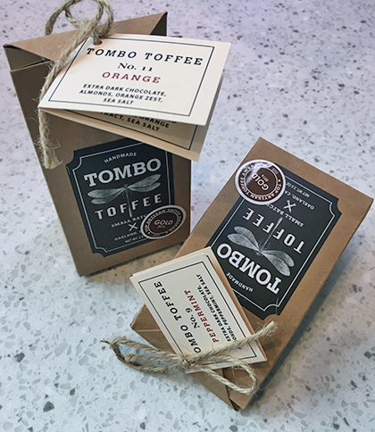Tombo Toffee packaging