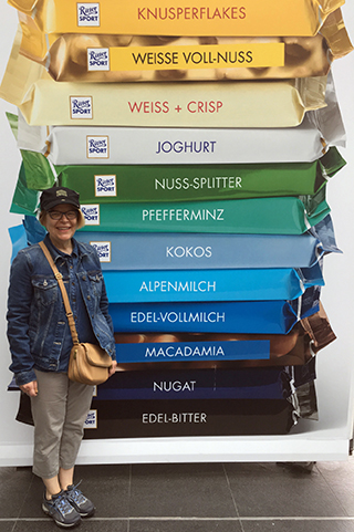 Ritter Sport banner and me