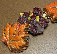 cranberry pistachio leaves