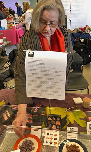 flying noir's founder and chocolatier, Karen