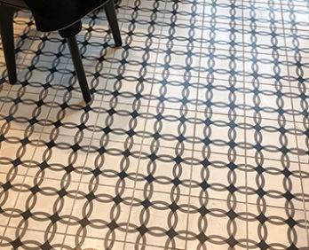 Dandelion Chocolate's Bloom Salon floor