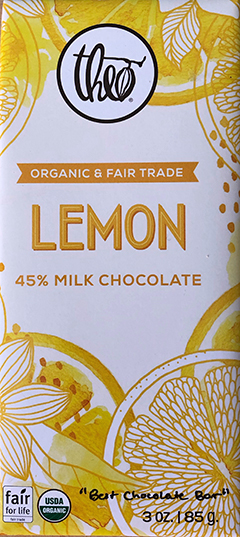 Theo Lemon Milk Chocolate bar