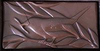 Molded chocolate bar