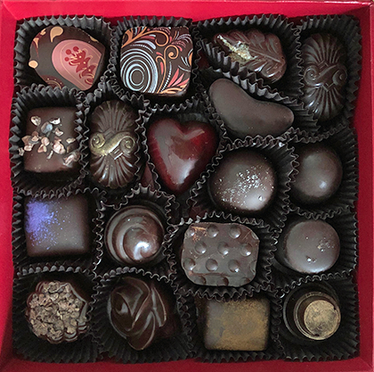 box of Sonoma Chocolatiers' chocolates