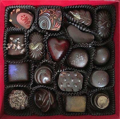 box of Sonoma Chocolatiers' chocolates