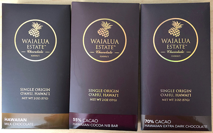 Waialua Estate Chocolate bars