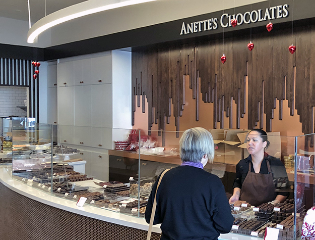 Anettes curved counter