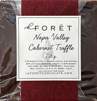 Napa Valley Cabernet Truffle bar