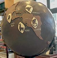 COVID travel globe