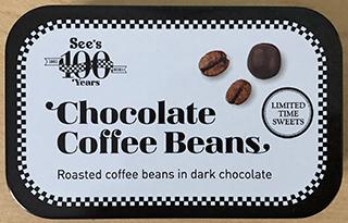 Chocolate Coffee Beans tin